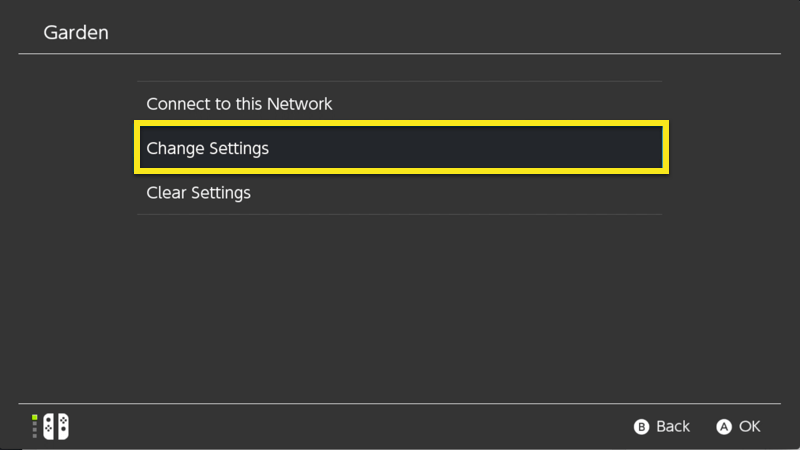 switch change settings