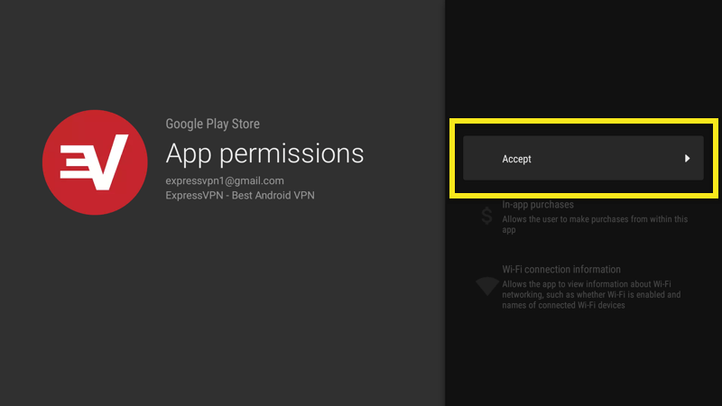 accept expressvpn android app permissions