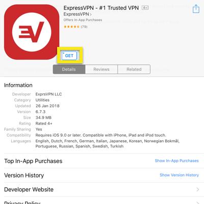 app store get expressvpn app