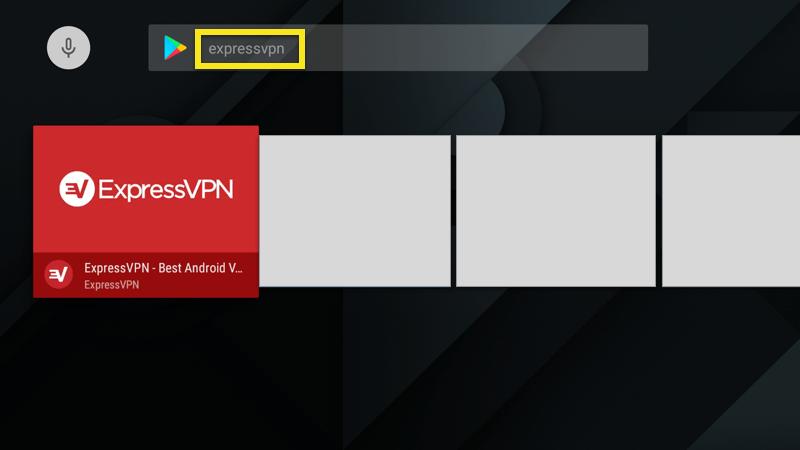 Recherchez ExpressVPN dans le Google Play Store.
