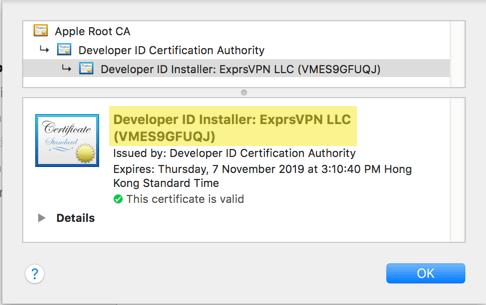 expressvpn mac verify developer id