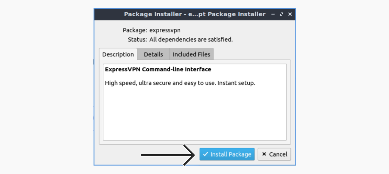 """Click """"Install Package."""""""