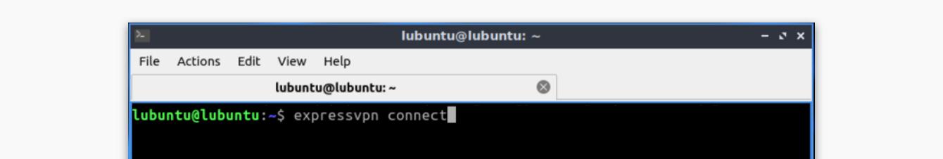 """Run """"expressvpn connect."""""""