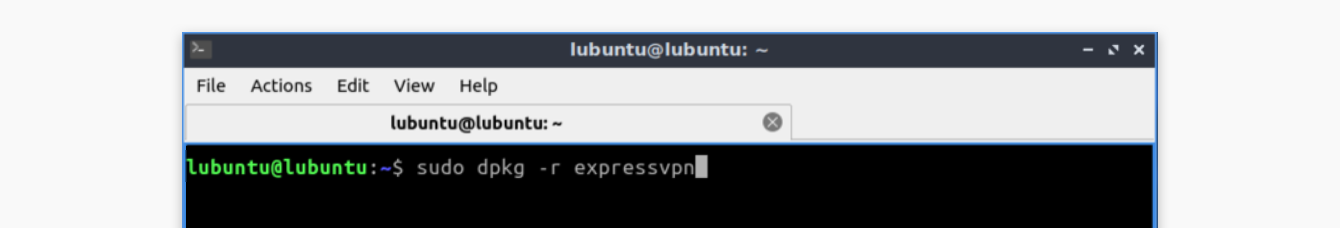 "Run ""sudo apt-get remove expressvpn."""