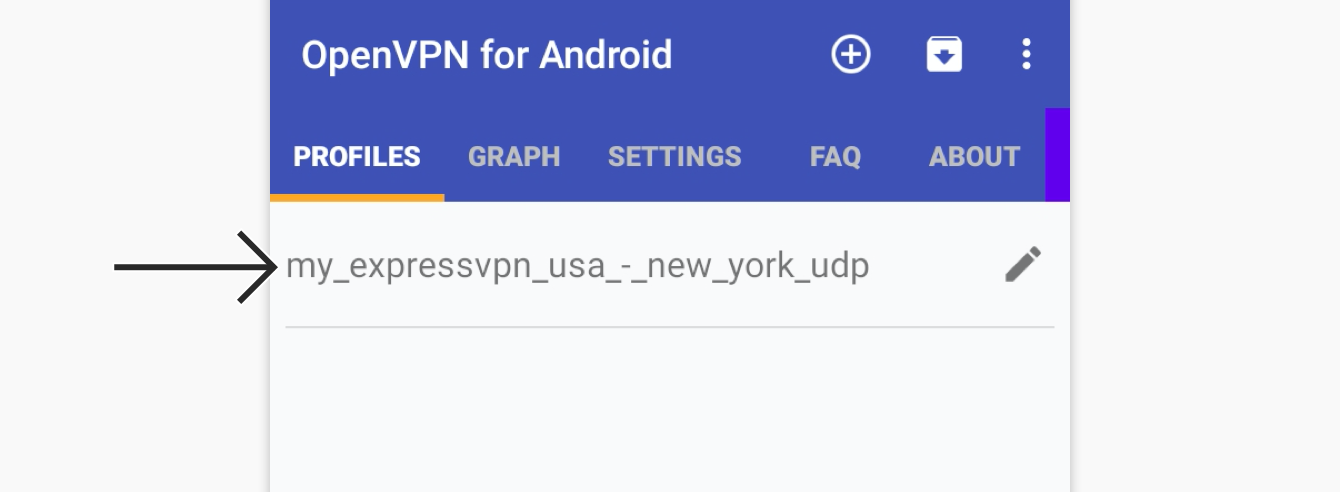Tap the VPN profile you have just created.