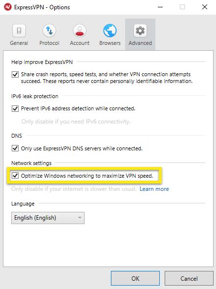 expressvpn for windows network settings