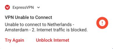 Androidでインターネットがブロックされたことを示すシステム通知。
