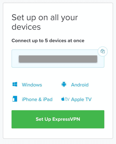 "Tap on ""Set Up ExpressVPN"""