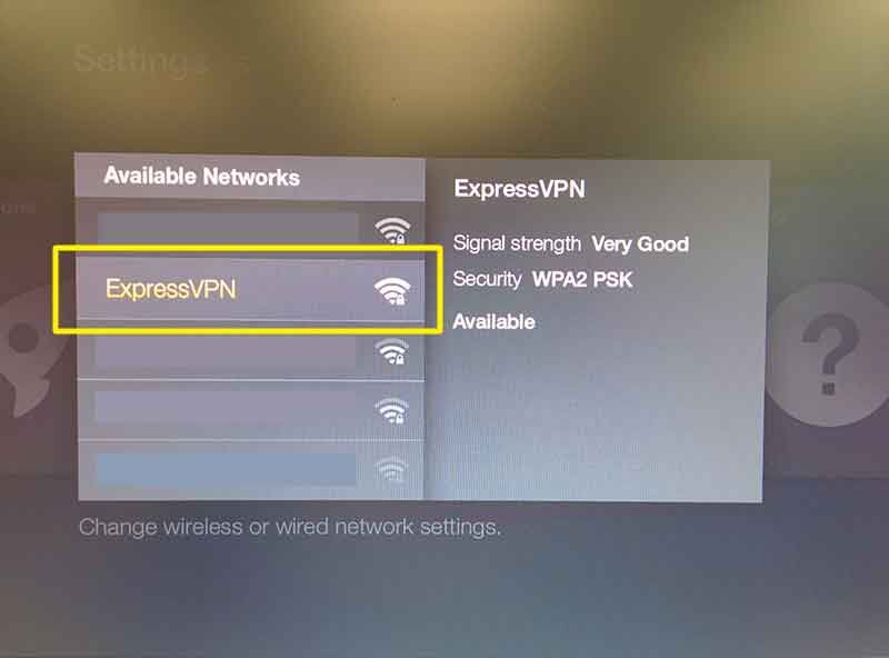 select the virtual router or router for amazon fire tv