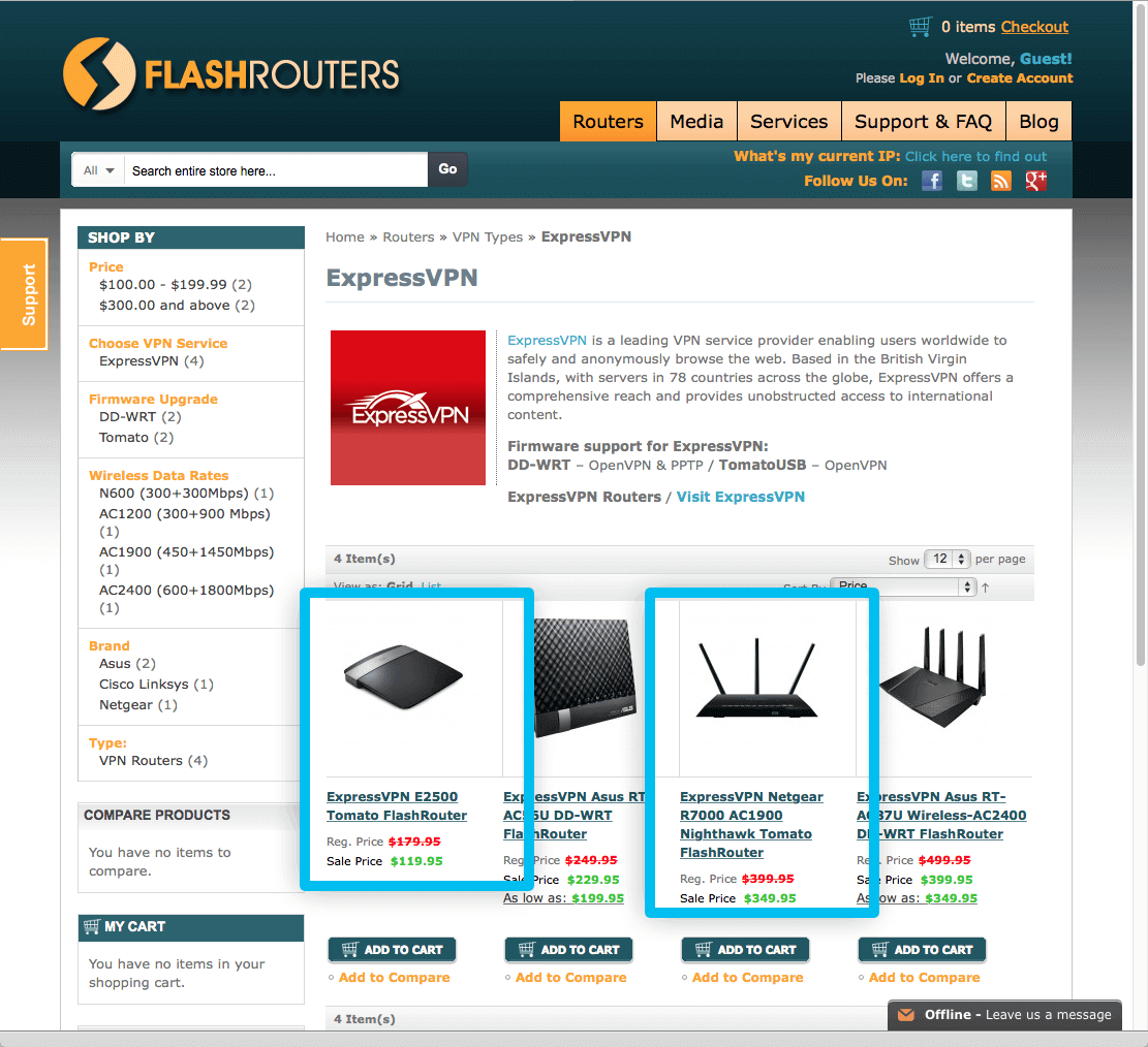 purchase an expressvpn tomato flashrouter from flashrouters.com