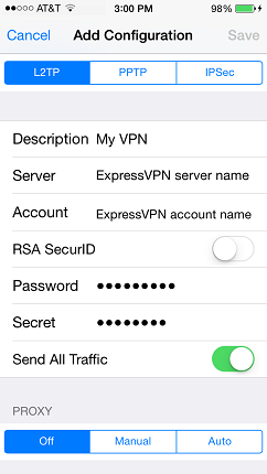 vpn configuration settings