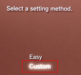 select setting method