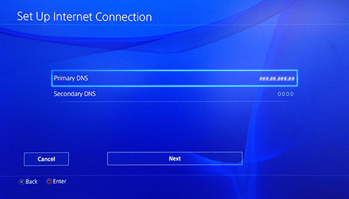 secondary dns settings