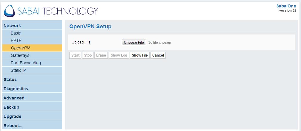 network - openvpn