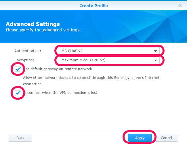 advanced settings for your vpn
