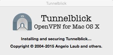 tunnelblick is installing