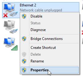 tap-windows adapter v9 properties