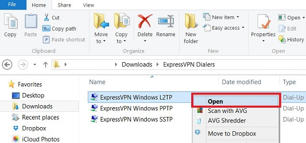 open expressvpn windows l2tp